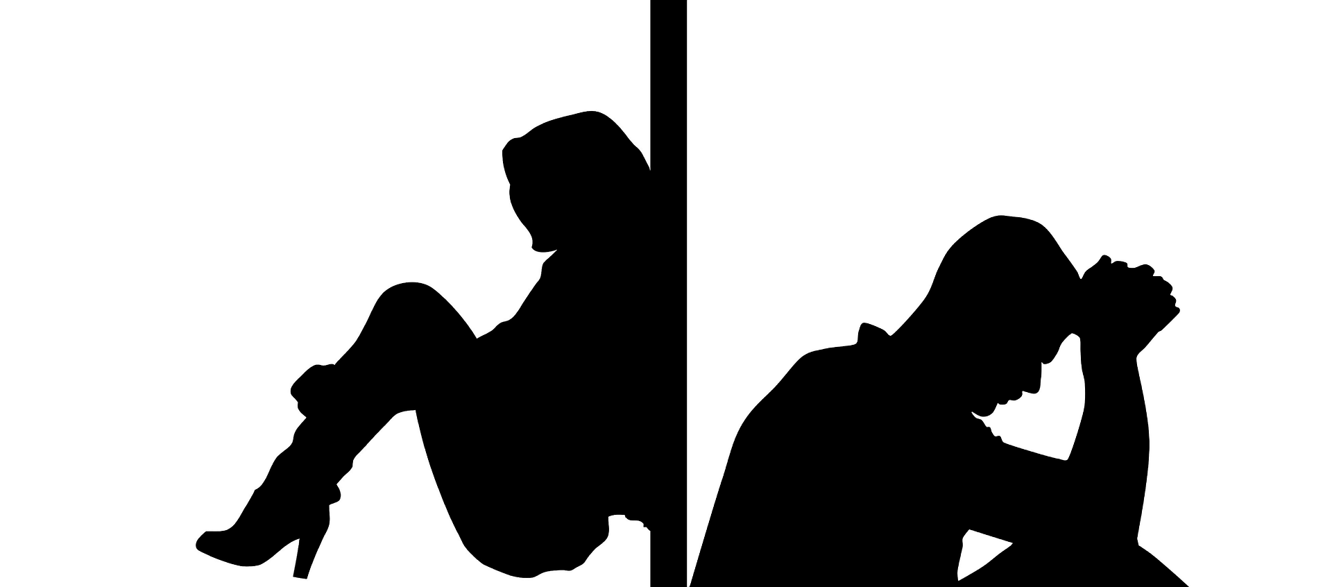 Marriage Counseling For African-american Couples Silhouettes